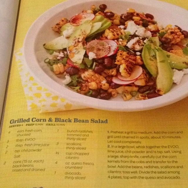Grilled corn and black bean salad | Incredible Edibles | Pinterest