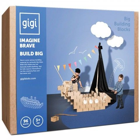 Gigi Bloks Gigi Bloks Klein - 96 blokken (3j+) - Kudzu eco webshop