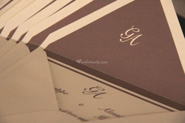 Dettagli Busta e Partecipazione Cacao  Wedding Invitation Liner cocoa color  #Gli Acquerelli di Loredana