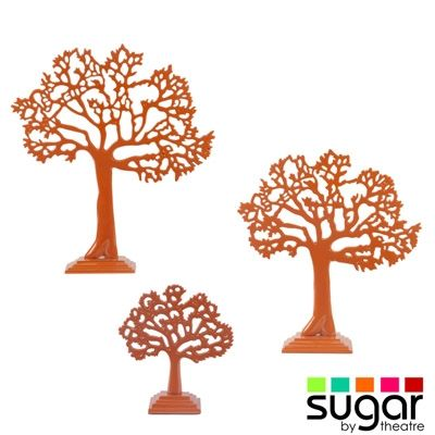 SUGAR Orange Tree of Life Jewellery Display Stand from Earth Homewares