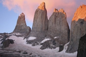 "Torres del Paine, the centerpiece the famous ""W"" Circuit hiking trail in #Patagonia"