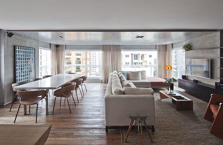 Apartamento Rústico Expõe DNA Moderno do Escritório Meireles  Pavan Arquitetura