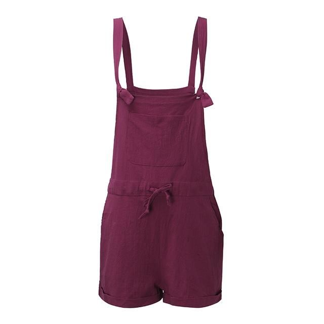 35dd150a4750 2018 Summer Rompers Womens Jumpsuits ZANZEA Casual Loose Playsuits  Strapless Sleeveless Overalls Plus Size Bodysuits S-5XL
