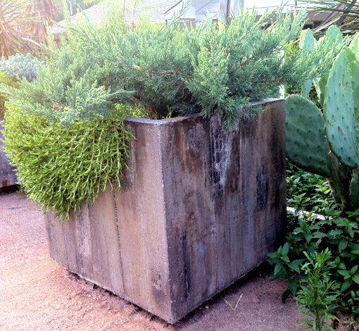 how to build a concrete planter