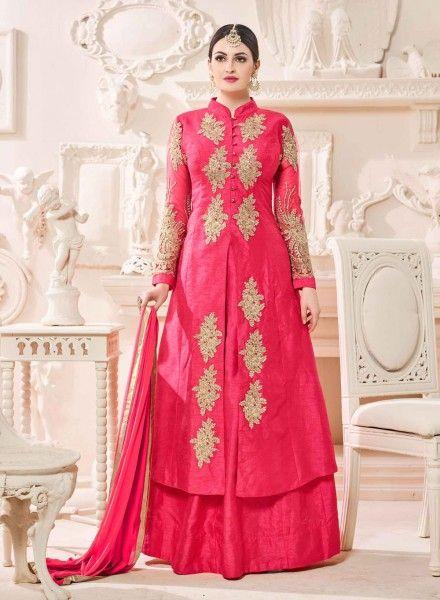 0250f20680 Pink abaya style floor length Islamic anarkali suit in plus size | my  disane | Party wear lehenga, Engagement dresses, Lehenga style