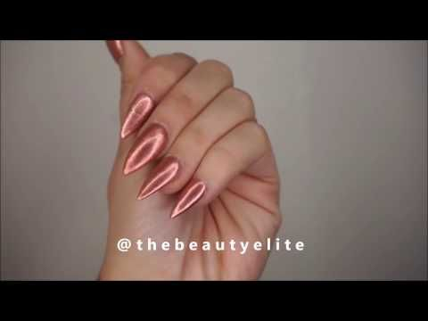 (5) TheBeautyElite - Rose Gold Nails Repair Broken Nail Tip Quick Fix makeup shiny nail polish - YouTube