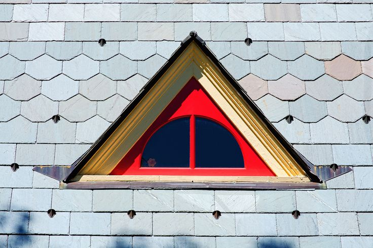 Dormer window in the roof of the Chapel built in 1884, Spring Grove Cemetery, Medina, Ohio    Restored by the Friends of the Cemetery