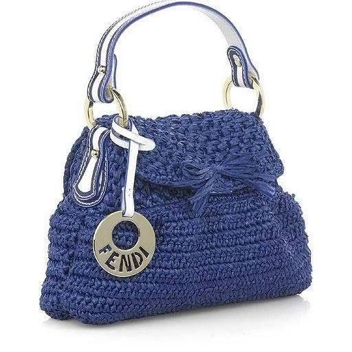 Fendi blue crochet bag ~ there are some free patterns and diagrams here
