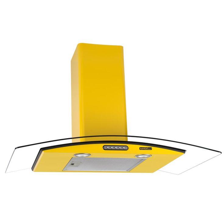 Gostou desta Coifa de Parede Vidro Curvo Duto Slim Yellow 80 cm 127v - Nardelli, confira em: https://www.panoramamoveis.com.br/coifa-de-parede-vidro-curvo-duto-slim-yellow-80-cm-127v-nardelli-8608.html