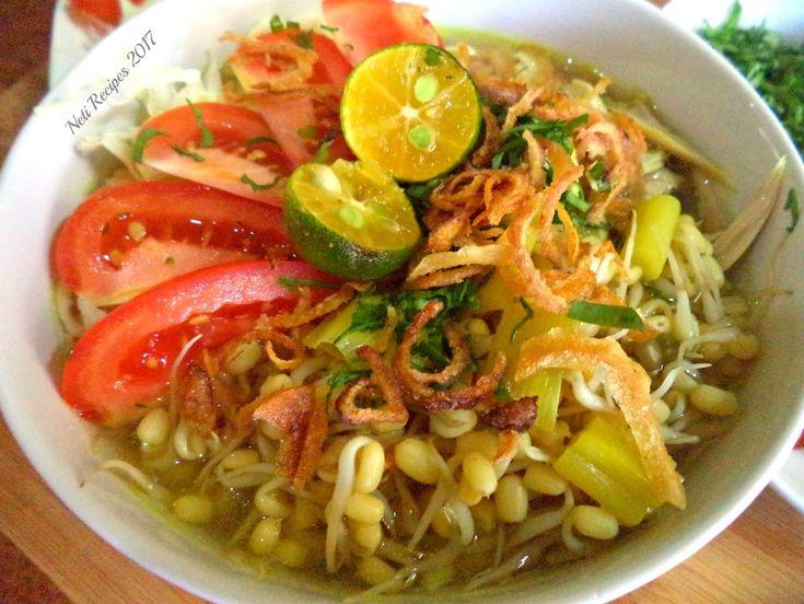 Soto Ayam Lamongan Indonesian traditional recipe
