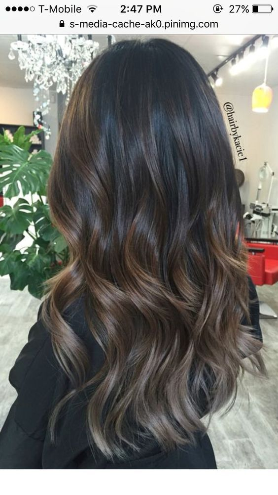 57 Couleur de cheveux au chocolat foncé naturel pour Brown Brunettes Balayage