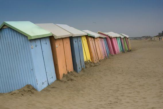 Strandhuisjes aan de Belgische kust 2