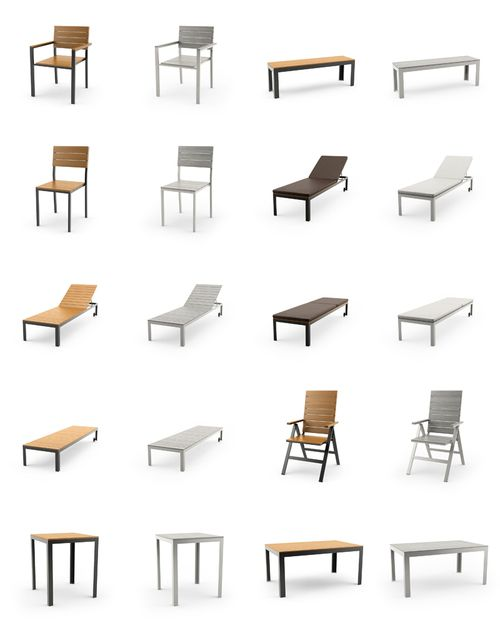 FREE 3D MODELS of IKEA outdoor furniture series FALSTER free for download