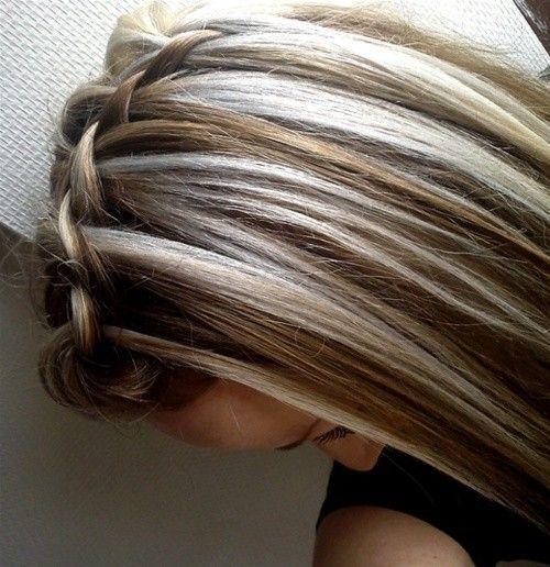 thin highlights on dark hair | Dark Brown Hair with Blonde Highlights by chellw34