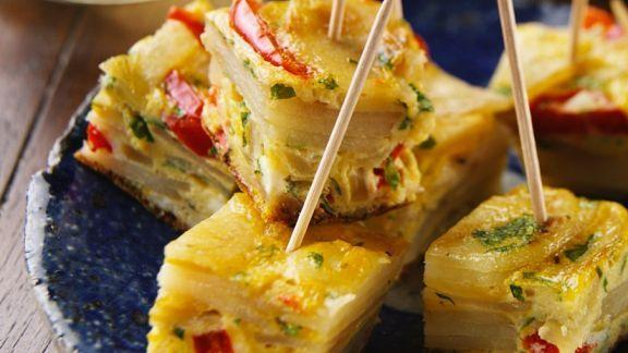 Rezept: Kartoffel-Frittata mit Paprika