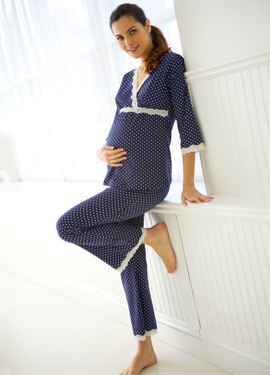 Belabumbum - Dottie Pyjama Set in Navy Polkadot