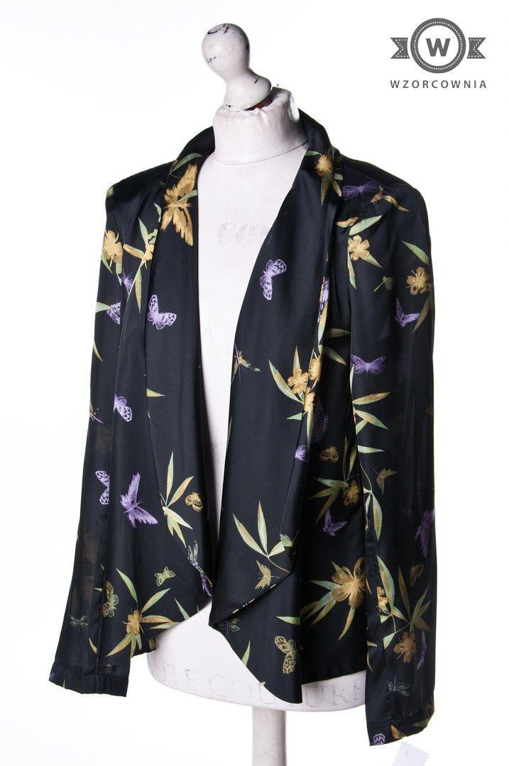 >> Wzorzysty #żakiet/narzutka #H&M #Wzorcownia online | #jacket #fashion #flowers #blossom