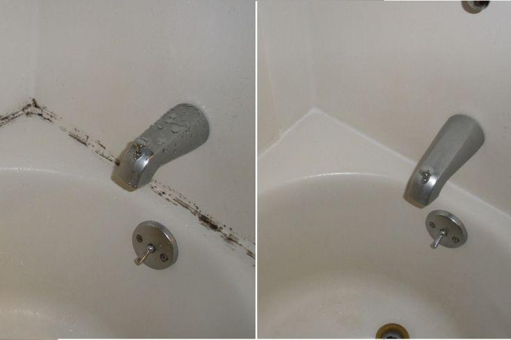 Comment faire disparaître les moisissures de contour de bain sans frotter!