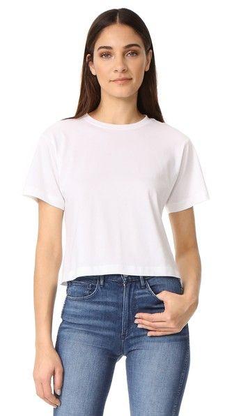 3X1 Укороченная Футболка В Стиле «Бойфренд». #3x1 #cloth #dress #top #shirt #sweater #skirt #beachwear #activewear