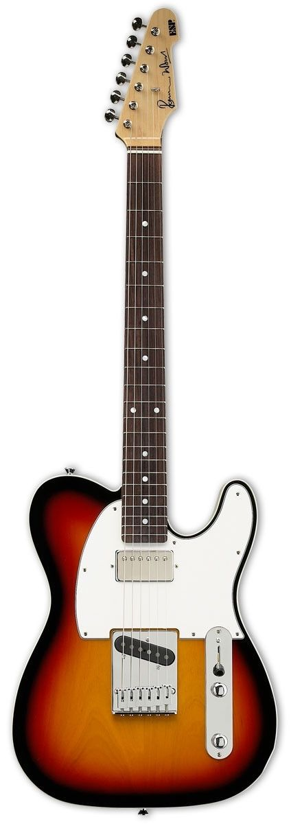 ESP Ron Wood Signature Electric Guitar ESP and Ron Wood have teamed up to make a beautiful signature series, with that classic look and tone that only Ron Wood can provide. Available in multiple finis