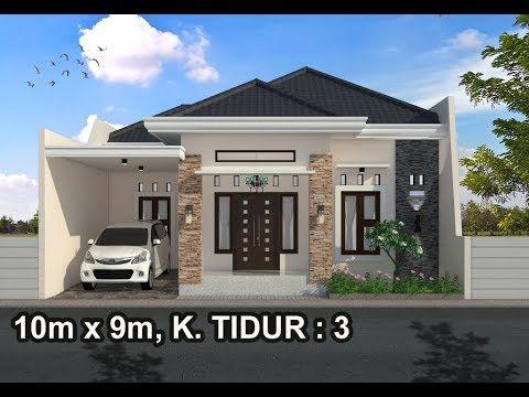 Rumah Minimalis Lantai 1 Modern House 10x9 3 K Tidur Youtube Rumah Minimalis Rumah Indah