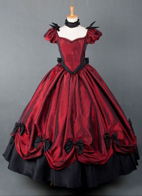 2015 Brand New Wine Red Vintage Victorian Ball Gown Floor Length Party Dress