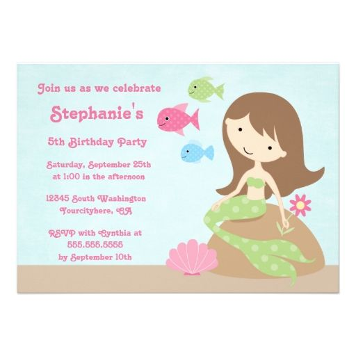 the little mermaid party invitations - Little Mermaid Party Invitations