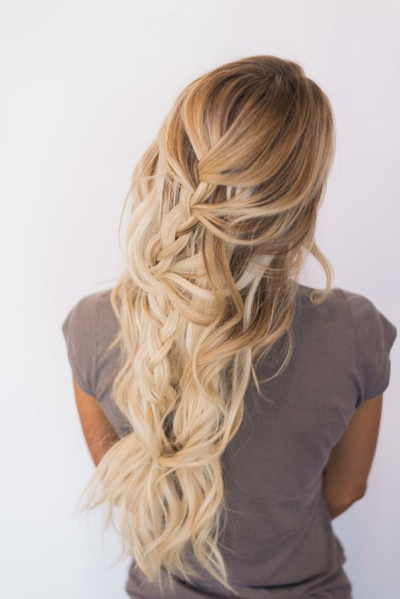... Pinterest Medium length hairs, Easy long hairstyles and Hairstyles