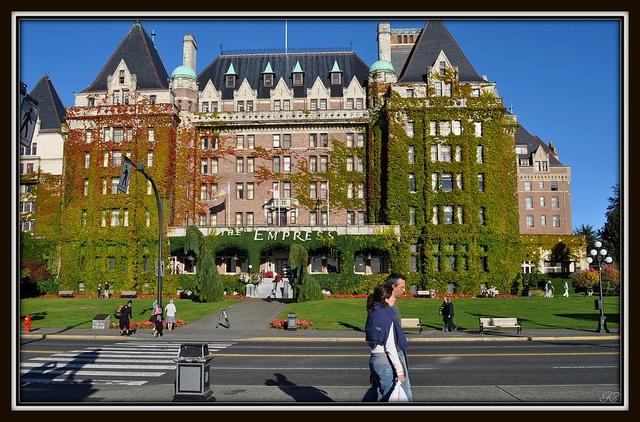 Empress Hotel, Victoria, Vancouver Island via Flickr