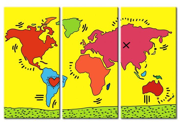 Вам нравится творчество Кейта Херинга? В бимаго, Вы найдете картины инспирированные его работами. #картинацветы #картинанахолсте #картинымоне #дизайнинтерьера #настенныйдекор #картины #модульныекартины