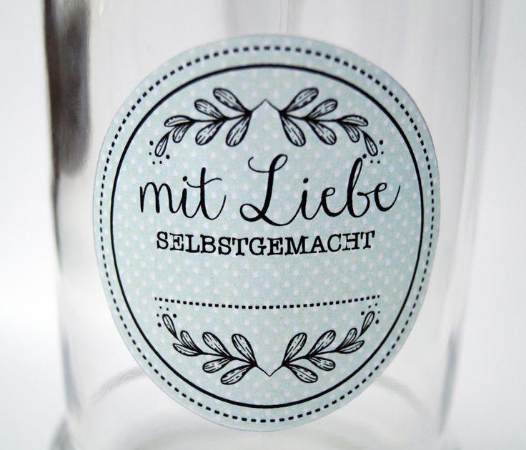 Vorlage zum Ausdrucken - Etiketten für DIY-Geschenke