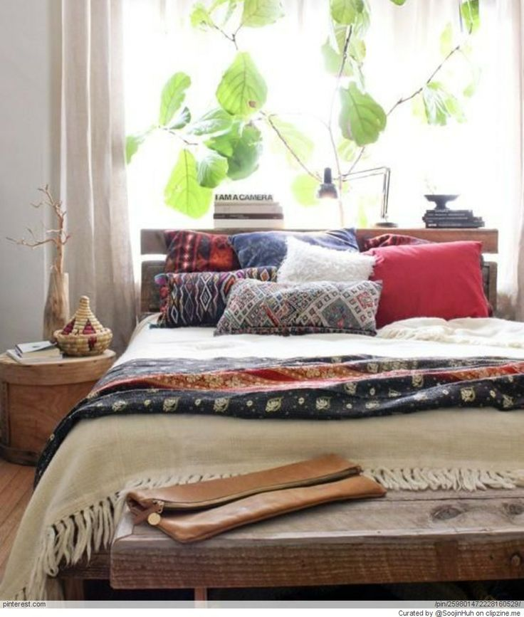 Blankets And Pillows Bed Low To The Floor Plant