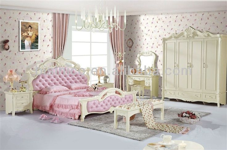 Lovely Girl\'s Series Bedroom Set,Solid Wood Carved Design Bedroom ...