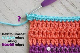 Engelse tutorial hoe je bij ongelijke randjes van je haakweek toch een mooie rand krijgt! Handig! (Colorful Crochet Patterns)