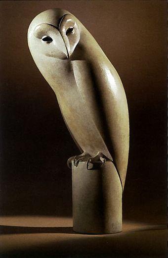 Monumental Barn Owl  -  by Geoffrey Dashwood  Media: Bronze sculpture Dimensions: 6' 11''