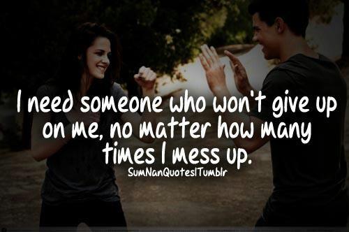 Especially when I mess up