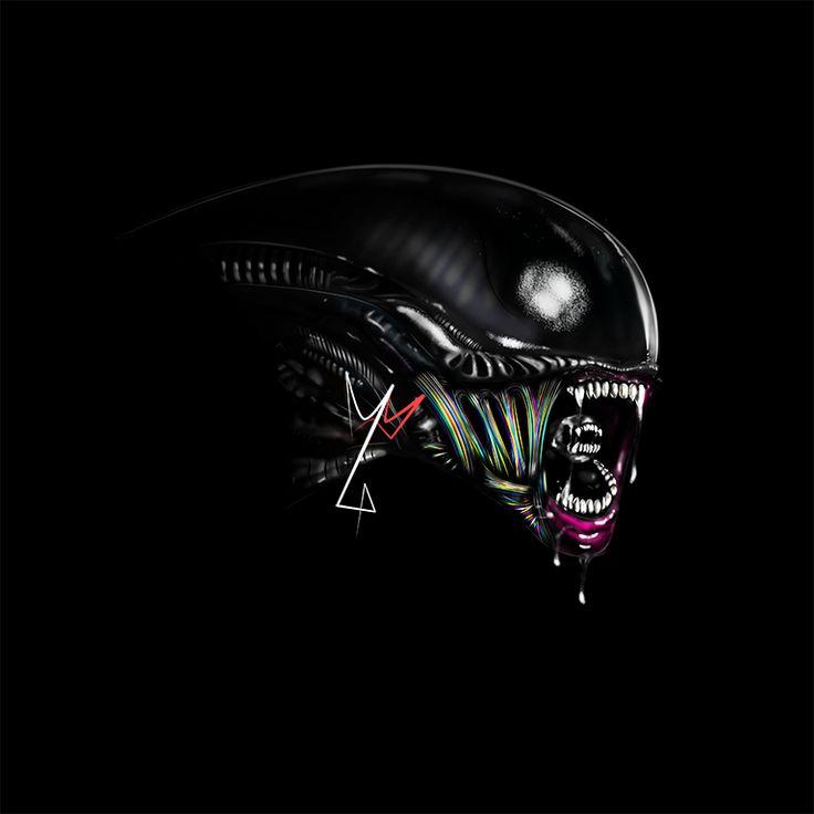 My hobby - digital painting:) Alien/Xenomorph