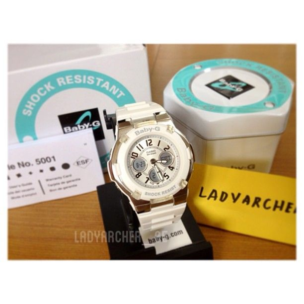 Authentic Casio Baby-G BGA110-7B White Watch. Brand new in box with tag, manual and warranty.