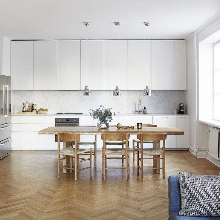 Cuisine moderne 20 id es fra ches de rev tements - Eclairage meuble de cuisine ...