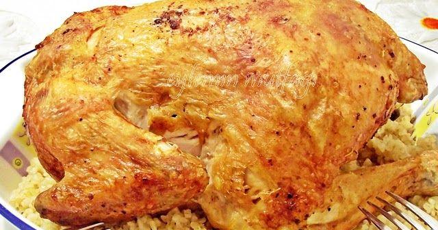 Daha önce yaptıgım mayonezli fırında bütün tavuk harika olmuştu.Ama pişme süresi çok uzundu oda benden kaynaklanıyor daha önceden tavug...