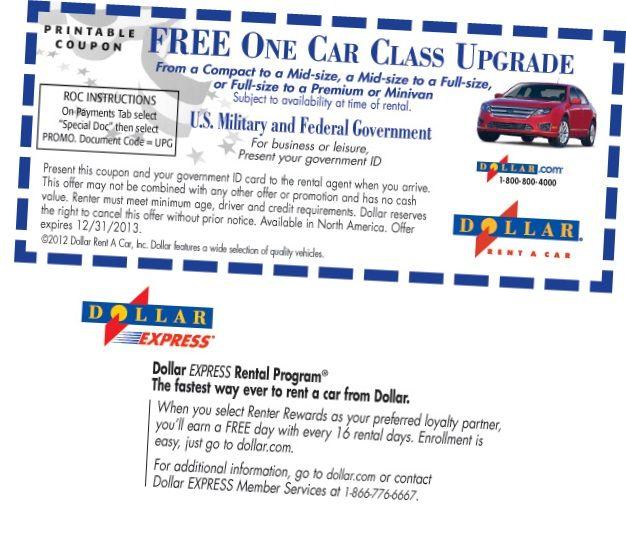 Free One Class Upgrade In Dollar Car Rental Coupons Photos Of Dollar Car Rental Coupons In October 2013