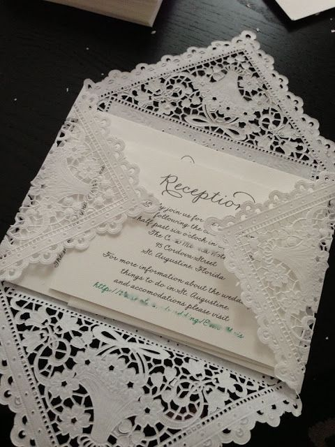 DIY Lace Envelopes   A Future Event of a Now Determined ...