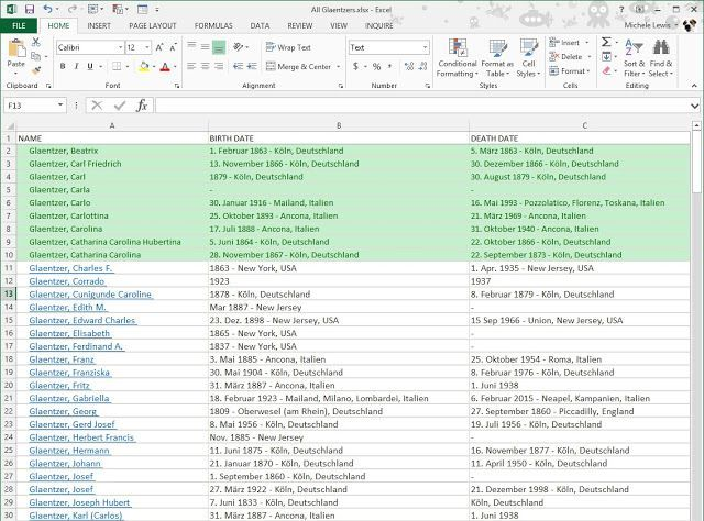 I posted an Excel trick on the Organized Genealogist , Technology for Genealogy and the Excel-ling Genealogists Facebook Group pages. I w...