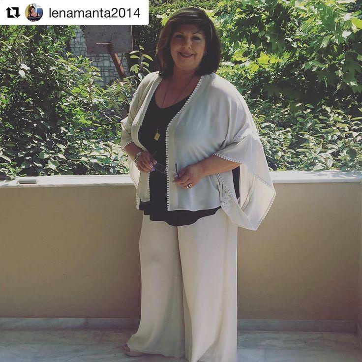 Repost @lenamanta2014 ❤️Λένα Μαντά ・・・ Έτοιμη! Σε λίγο στο Σου Κου στον #ant1 ! Με #totallook #matfashion ! #psichogios_publications #gramma_apo_xryso