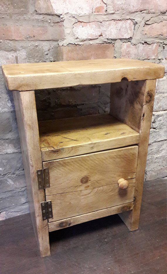 plain wooden bedside table ideas table