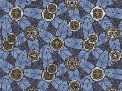 Bradbury Art Deco Style Wallpaper | Oasis Wallpaper in Ultra Blue