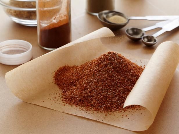 Get Rib Dry Rub Recipe from Food Network -cut the salt to 2 TSP instead of TBSP - maybe add more sugar
