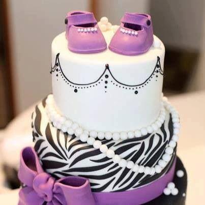 showers baby shower cakes purple cake ideas baby girl zebra baby