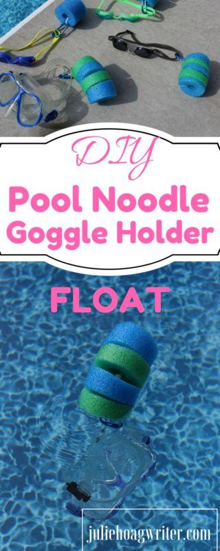 DIY Pool Noodle Goggle Holder Float | family | kids | pool ideas | pools backyard | pool noodle ideas | pool noodle crafts | pool noodles | diy crafts | diy pool ideas | pool time | pool time ideas | swim time | goggles swimming | goggles DIY | pool floats | pool floats for kids | pool floats aweseome | swimming | affiliate | lake swimming | summer fun | summer fun ideas | summer crafts kids