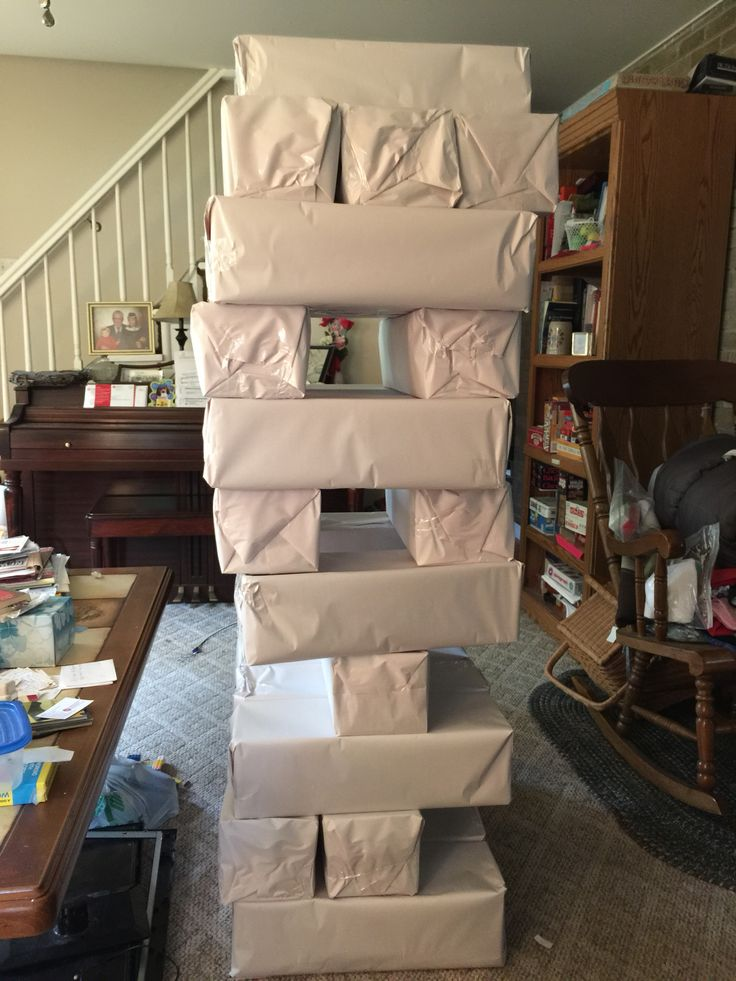 here is how we made a life sized jenga game light weight enough to protect heads and toes when. Black Bedroom Furniture Sets. Home Design Ideas